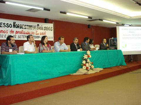 Abertura do Congresso Nordestino de Biólogos - Congrebio 2009.