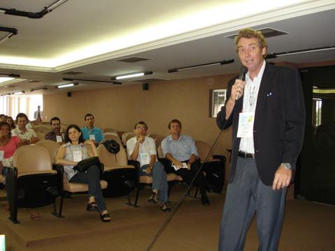 Biólogo Alexandre Jost coordenando os trabalhos do Congresso Nordestino de Biólogos - Congrebio 2009.