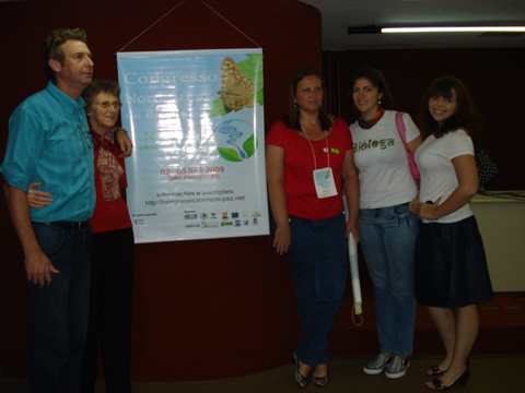 Biólogo Alexandre Jost e sua família participaram ativamente da organização do Congresso Nordestino de Biólogos - Congrebio 2009.