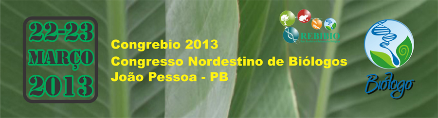 Congrebio 2013 - Congresso Nordestino de Biologos